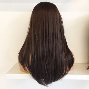 "20"" Dark Brown Lace Front Wig 